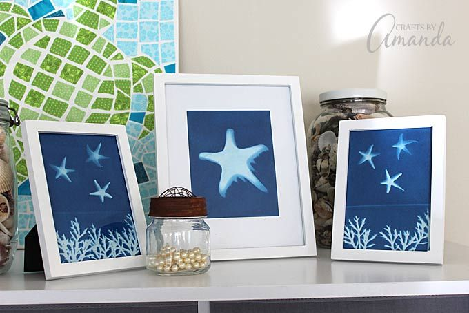Use sun print paper to create wonderful wall art! This is an awesome project for…
