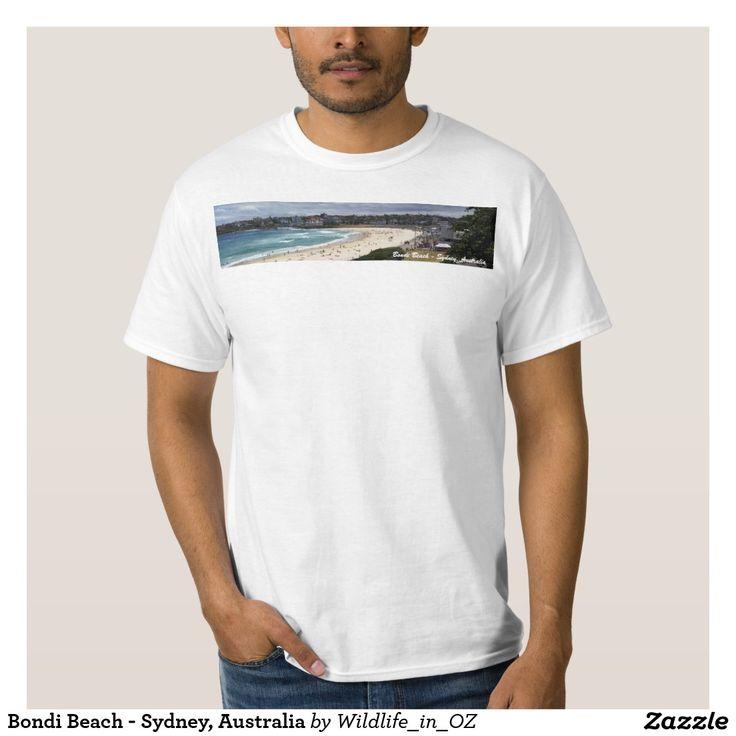 Bondi Beach - Sydney, Australia Tee Shirt - Bondi Beach Australiana - #bondibeach Click on photo to view item then click on item to see how to purchase that item. #bondi #iconicbeach #sydney #australia #surf #sunrise #sand #surf