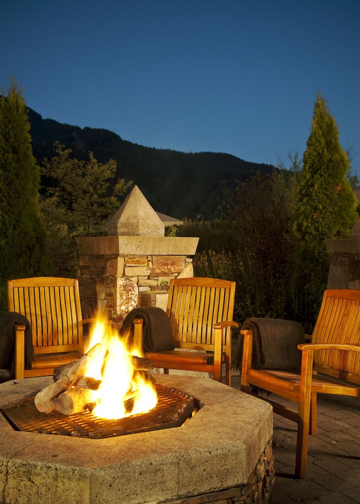 Even on a chilly night in Whistler you can still enjoy the night outside by the Mallard fire pits!