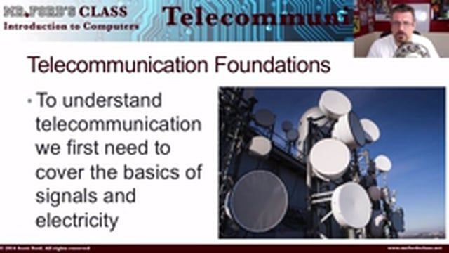 We introduce the telecommunication series by looking as some fundamental concepts: the basics of electricity, analog signals, and digital signals.