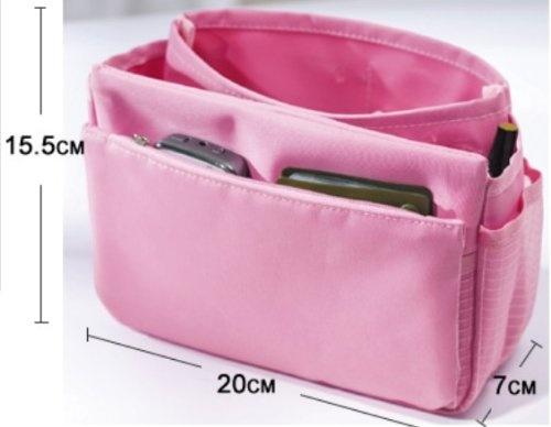 Ostart Multi-functional Handbag Organiser Storage Bag Collector Insert Pocket Travel Pouch - Pink