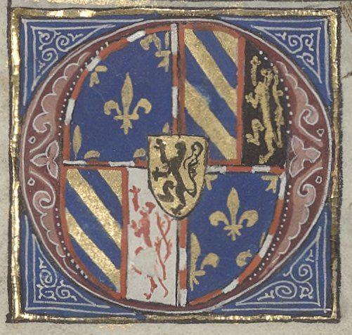 Coat of arms of Philip the Good, Duke of Burgundy. Arsénal, Ms. 6328 réserve, fol. 2r.