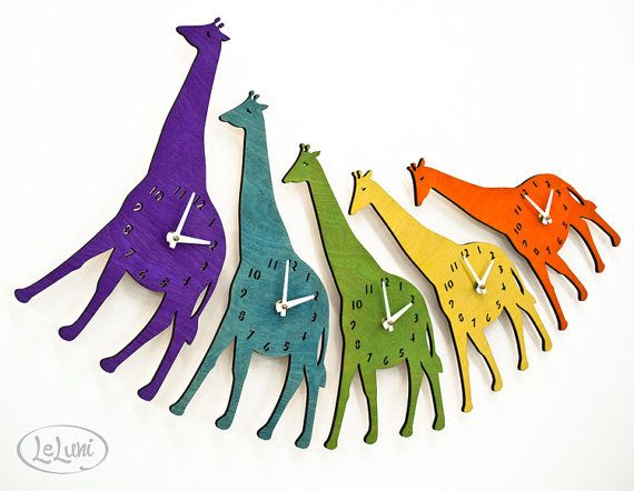 These cheerful wall clocks.   27 Things You Need If You Love Giraffes