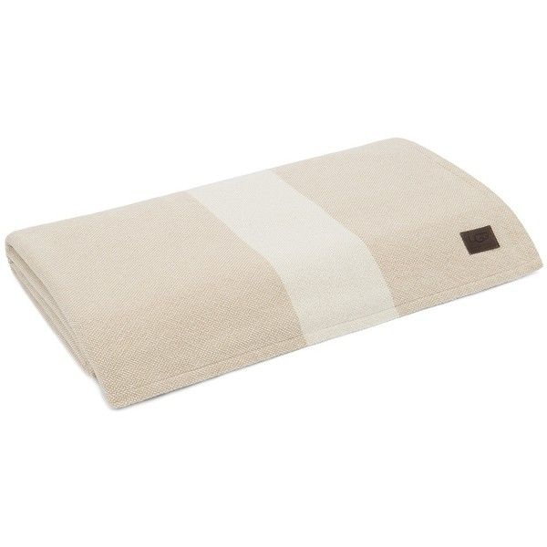 UGG Australia Cream/Sand Coastal Heritage Blanket - King ($103) ❤ liked on Polyvore featuring home, bed & bath, bedding, blankets, ugg, cream blanket, king size bed linen, beige bedding and coastal style bedding