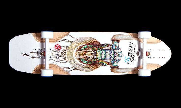 Arbiter 36 KT Spirit Skull by Radcastle / Rachel Rivera for Original Skateboards