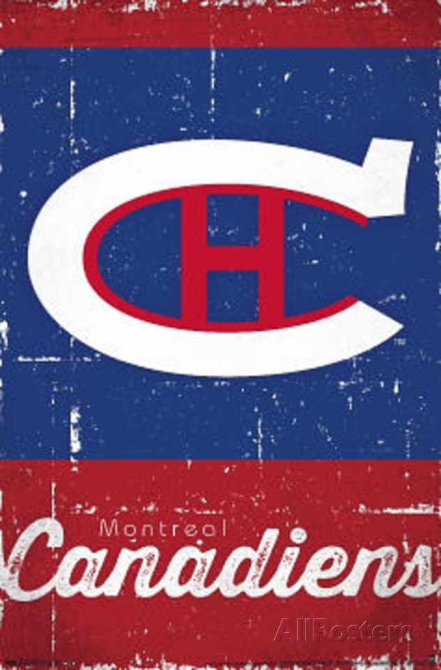 Montreal Canadiens Retro Logo Poster at AllPosters.com