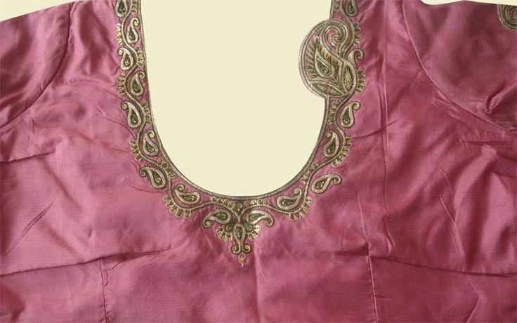 Hand embroidery designs for neck بحث google‏ blouse