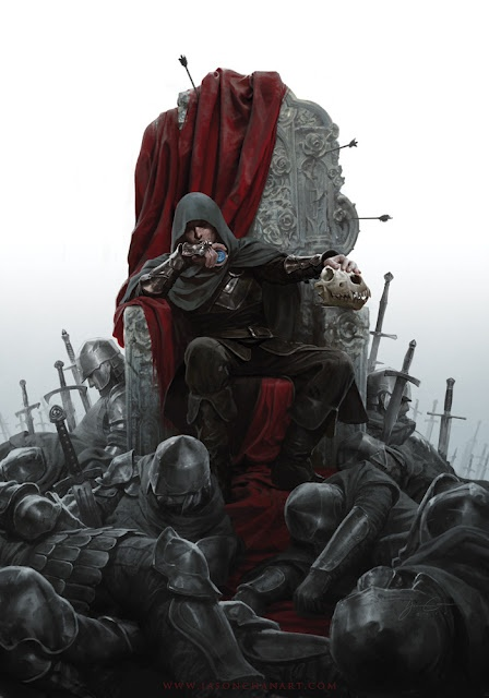Cool one of @Mark__Lawrence's KING OF THORNS by Jason Chan