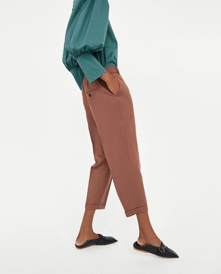 Obrázok 4 z NOHAVICE S ELASTICKÝM PÁSOM od spoločnosti Zara