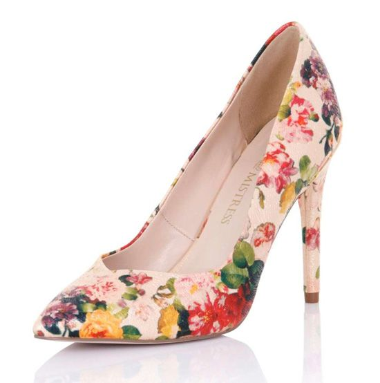 Little Mistress floral court shoes