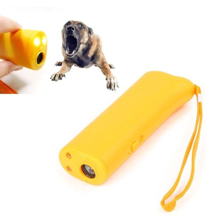 Anti ladridos parada de la corteza ultrasonidos perro de mascota ahuyentador adiestrador con LED 3 1(China (Mainland))