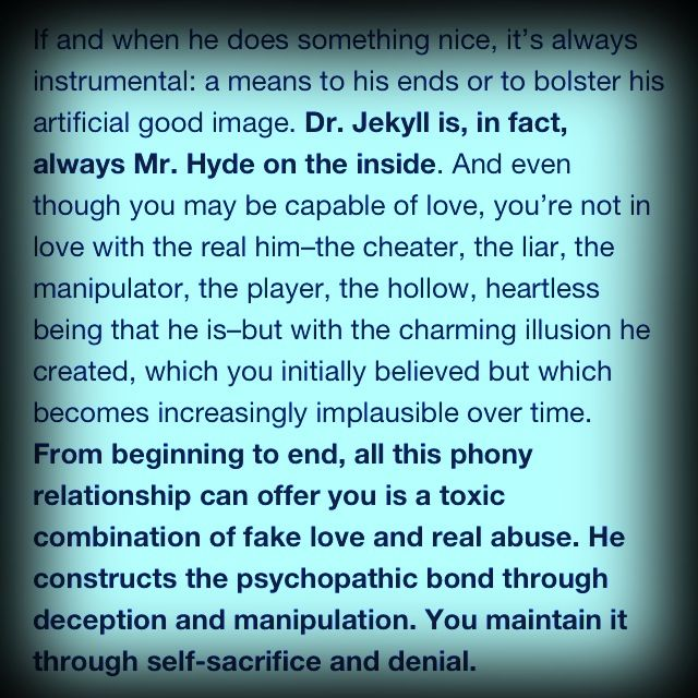 relationship with a psychopath Why no contact is so hard after an abusive relationship with a narcissist, borderline or with a narcissist, borderline or psychopath is a relationship with.