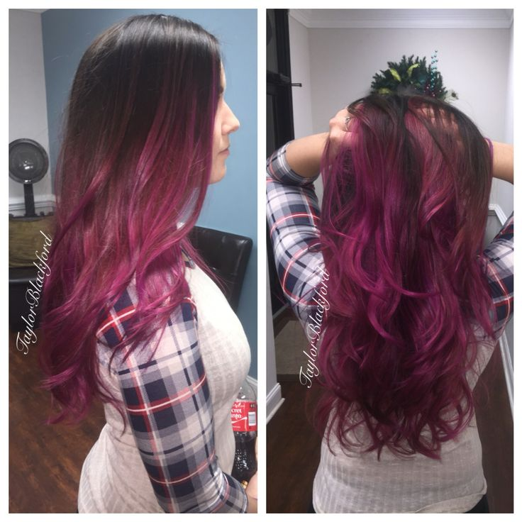 Wild orchid balayage ombré See more of my posts at: https://www.facebook.com/TaylorBlackfordBANG/ IG: tayyrae11