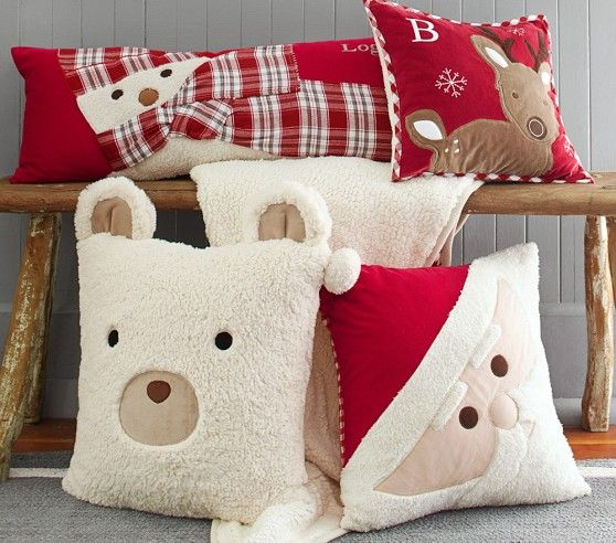 Christmas Decorative Pillows | Pottery Barn Kids-for inspiration