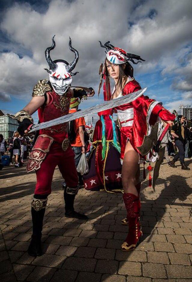 Blood Moon Shen and Akali