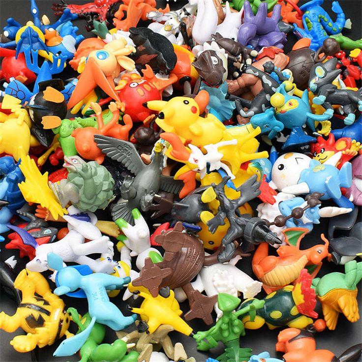 48pcs/Lots Kids Toys Pokeball Action Figures Pikachu Anime pokeball Toys Mixed 2-3cm Mini Random mini figurine Toys For Children #Affiliate