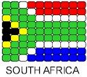 South Africa Flag Pin Pattern