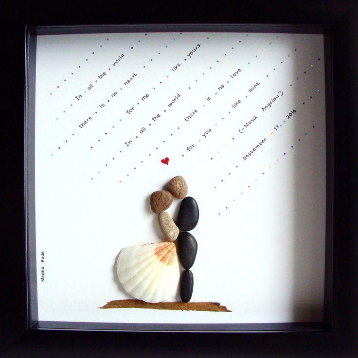 Unique WEDDING Gift- Custom Wedding Gift- Pebble Art- Unique Engagement Gift- Pebble Art Wedding Gift- Wedding Art- Couples Gift- Love Gift- Bride and Groom Gift- Pebble Art by MedhaRode at www.esty.com/shop/MedhaRode