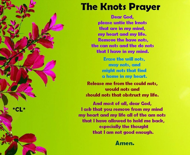 It is an image of Astounding The Knots Prayer Printable