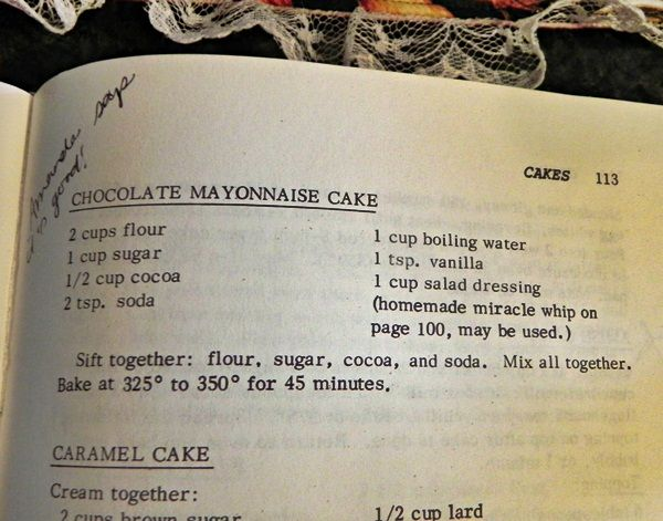 Cake Recipes In Written: One Bowl Chocolate Mayonnaise Cake #recipe