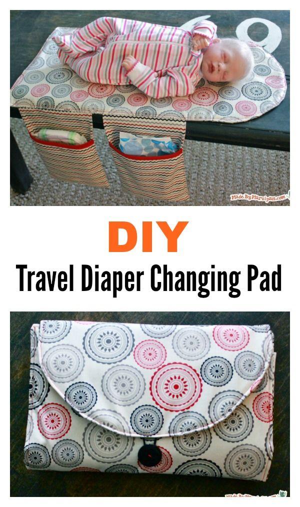 DIY Travel Windel Wickelunterlage und Clutch Bag   – Sewing / No Sewing