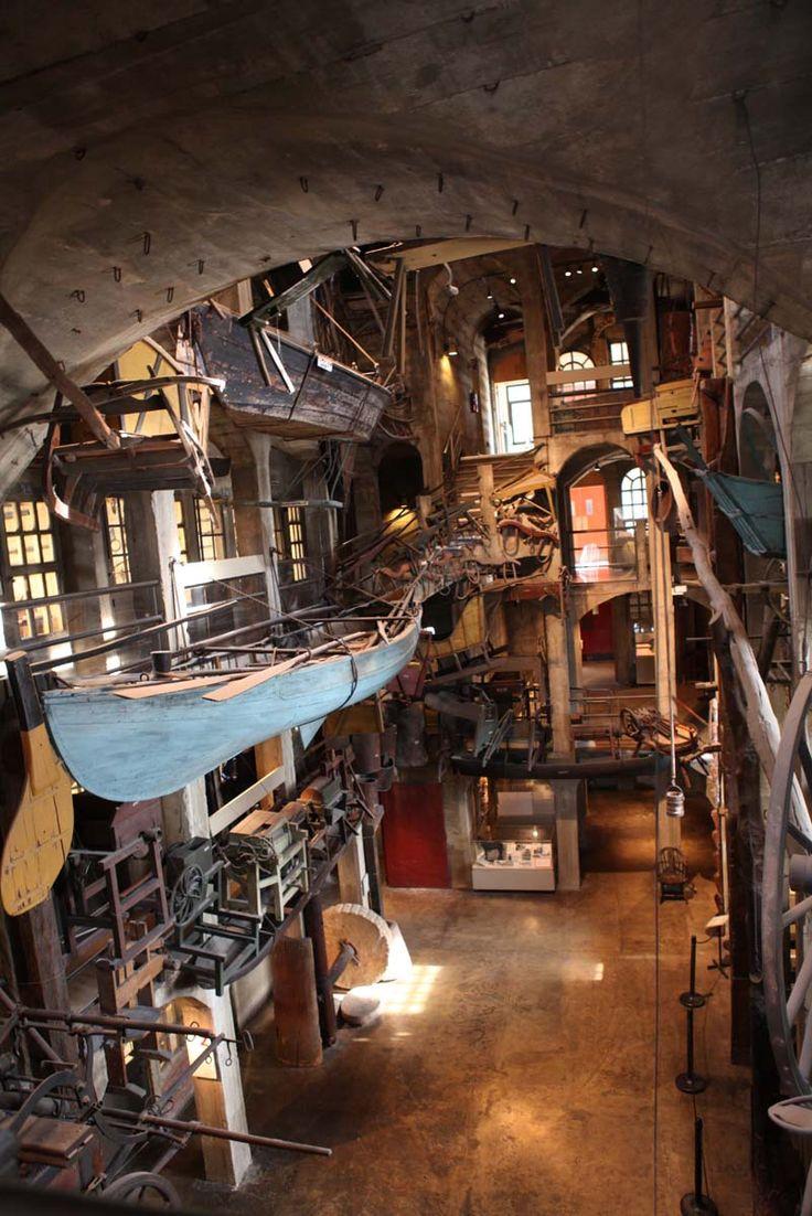 Inside the Mercer Museum. Doylestown, Pennsylvania, United States