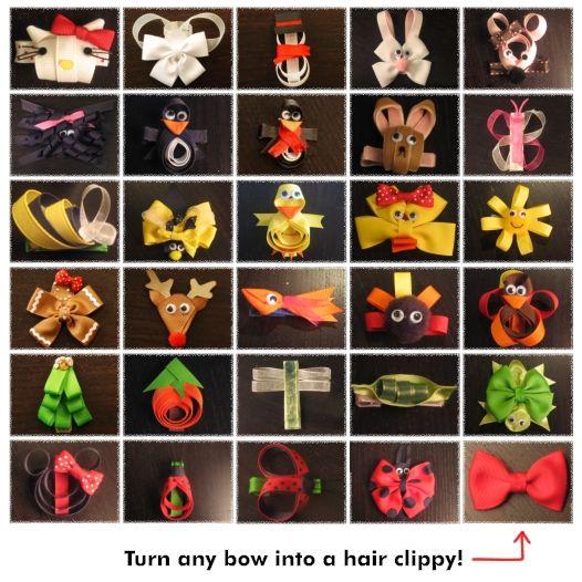 Cute!: Theme Hair Bows, Hair Clips Bows, Hair Clip Bows, Make Hair Bows, Hair Ribbons, Cute Hair, Boutiques Hairbows, Hair Bows Charts, Bows Instructions