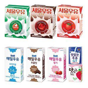 서울우유/매일우유/남양우유/흰우유/초코/딸기/멸균우유/우유/두유/베지밀/1000mlx10/200mlx24 9,800원/1,047개