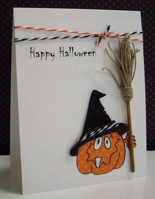 214 Best ♥ Halloween Cards ♥ Images On Pinterest | Autumn Cards, Fall Cards  And Handmade Halloween Cards