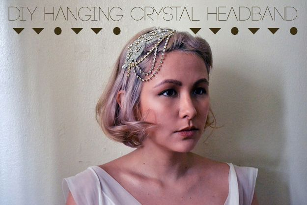 3. Hanging Crystal Headband   Three Glamorous DIY Gatsby-Inspired Headbands