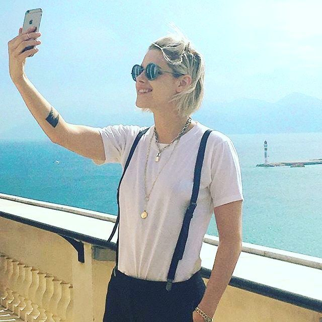 Kristen Stewart snapped a selfie on the 7th floor roof terrace of the @CarltonCannes. Picture by @chanelofficial #carlton #cannes2016 #kristenstewart #cannesfilmfestival2016 #CafeSociety #chanel