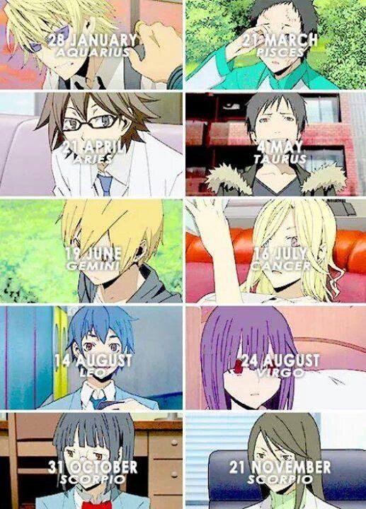 All my favorite anime characters are born in January or February and are Aquarius xD just like me