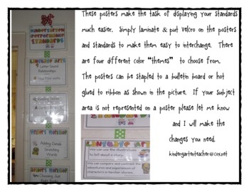 1st grade common core standards posters