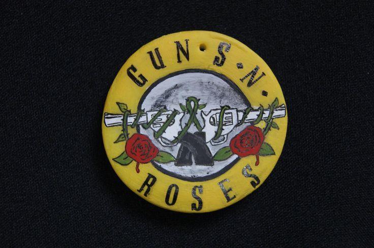 Guns'n'Roses Placa pintada a mano.
