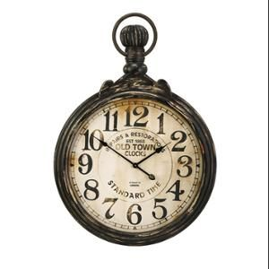 """Old Fashioned Antique Oversized Pocket Watch Wall Clock 39"""""""