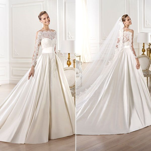 """This gorgeous Pronovias """"Yamay"""" gown would look fantastic in the Crystal Ballroom!"""