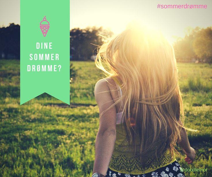 IDE: Lav din egen sommerplakat med små og store drømme