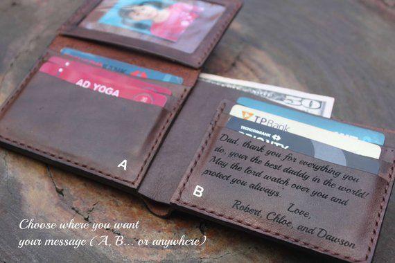 d226c70e Men's Leather wallet, Men's Wallet, Leather Wallet, Personalized ...