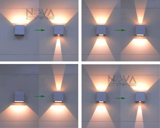 Cree luz de parede exterior, Led para baixo parede arandelas de parede lâmpada de iluminação IP65 6 W ao ar livre 2 pcs por lote