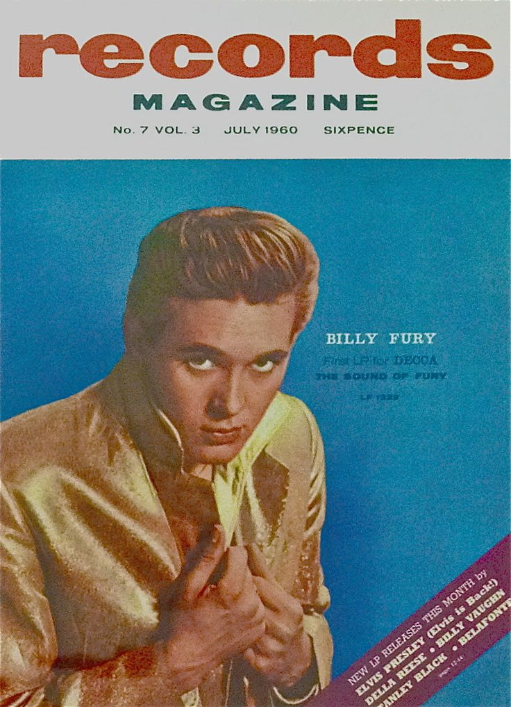 BILLY FURY The Sound Of Fury Records Mag Art Print Poster 30cm x 40cm NEW 1960s | eBay