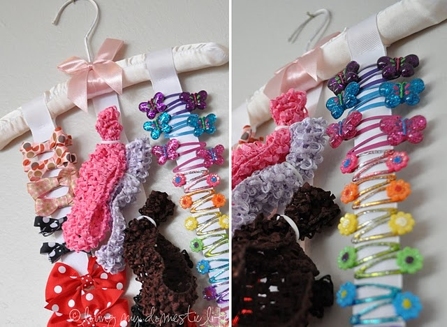 great way to organize hair accessories