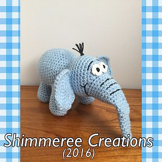 Crochet PDF Pattern for Amigurumi Dr. Seuss Inspired Horton the Elephant Doll by Shimmeree Creations on Ravelry