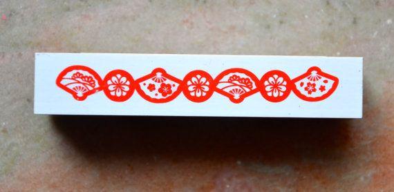 Japonais traditionnelle du nouvel an salutation Fans de timbre - Fancy