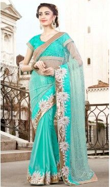 Turquoise Color Georgette Party Wear Saris Blouse | FH529980075 #traditional #ethnic #ootd #fashion #makeup #mua #hair #lehenga #saree #sari #jewellery #jewelry #asian #asia #wedding #weddingphotography #asianwedding #asianbride #bridal #bride #weddingbells, #love #fashion #india #wedding #floral #sari #desi #blouse #bollywood #weddings #couture #style #dress #editorial #designer #punjabisuit #makeup #sisters #satin #indianbride #beautiful #bride @heenastyle