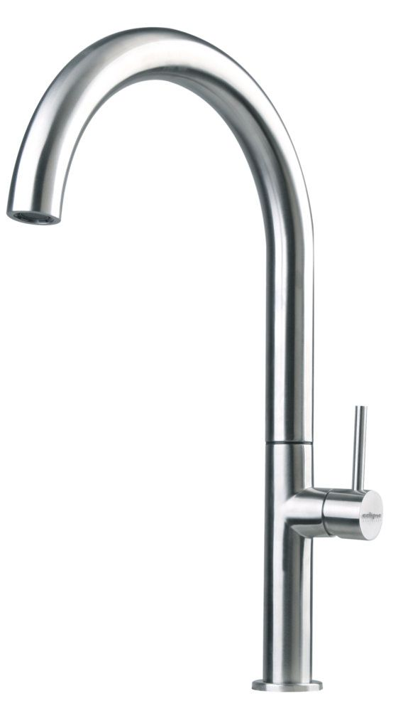 Eclipse Stainless® Grifería Serie Value Line Modelo EA-62B.  100% Acero Inoxidable.  Eclipse Stainless® Kitchen Faucet Mod. EA-62B. 100% Stainless Steel. www.eclipsestainless.com.mx