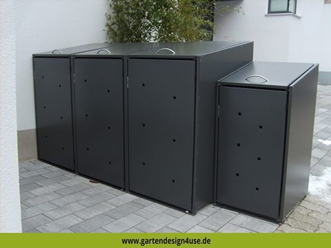 die besten 17 ideen zu m lltonnenbox auf pinterest. Black Bedroom Furniture Sets. Home Design Ideas