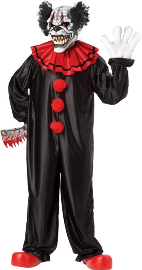 california costumes last laugh the clown mens one size halloween costume find this pin and more on creepy carnival party city