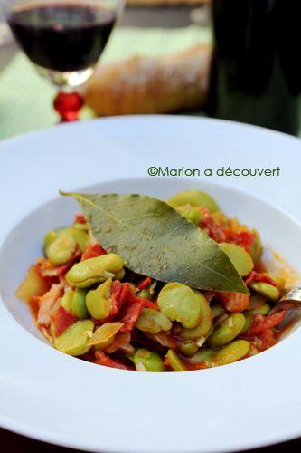 Fèves à la portugaise - Recettes de Cuisine de Marion Flipo