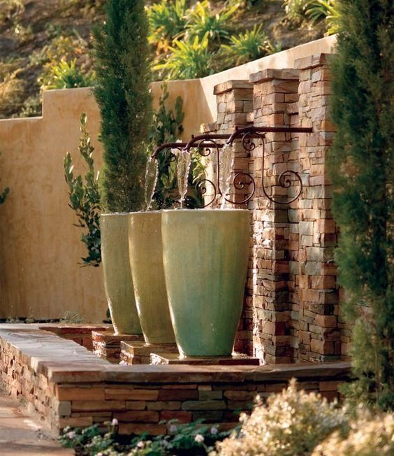 386 best images about water pots on pinterest garden - Fuentes para jardin ...