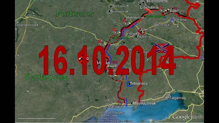 War in Ukraine 16/10/2014 Map Fighting Donetsk Lugansk Mariupol Current Situation